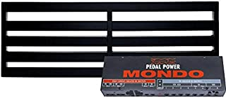 Pedaltrain TERRA Pedalboard 5 Rails 42x14.5 Pedalboard Wheeled Tour Hard Case and Voodoo Lab Pedal Power MONDO Isolated Power Supply