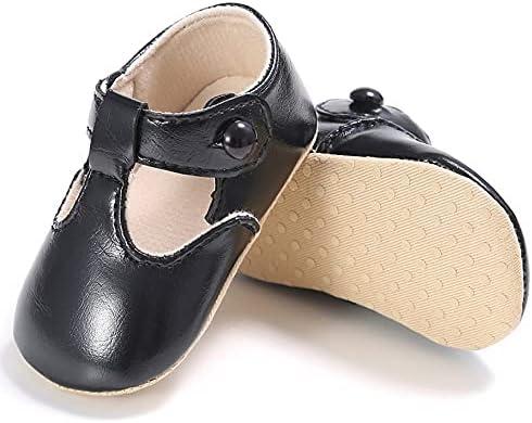 Libarty Zapatos de bebé Dulce Casual Princesa niñas bebé niños Zapatos de Cuero PU Suave Cuna sólida bebé niño pequeño Lindo Ballet Zapatos