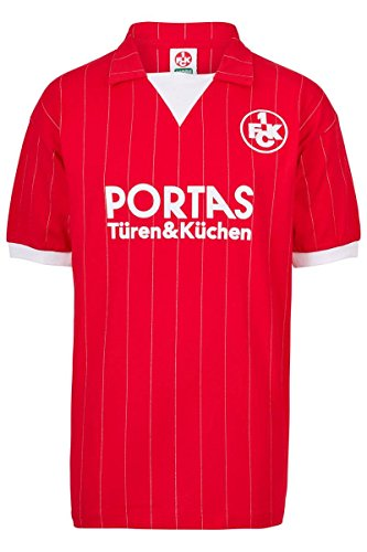 ScoreDraw Herren Retro - Trikot 1. FC Kaiserslautern | Heimtrikot 1983 in Rot, Größe: L