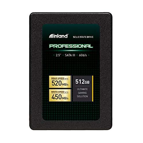Inland Professional 512GB SSD 3D TLC NAND SATA III 6Gb/s 2.5' 7mm Internal Solid State Drive (512GB)