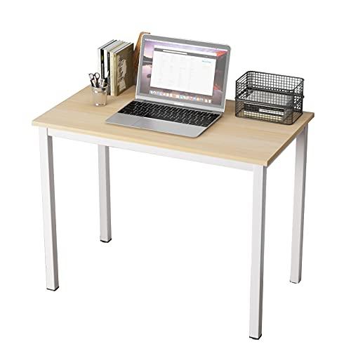 SogesHome Mesa pequeña para ordenador de 80 x 40 cm, mesa compacta, escritorio de oficina, mesa de esquina para casa, oficina, pequeño escritorio, mesa infantil, SH-LD-AC80LO