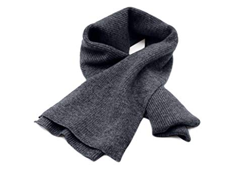 State Cashmere Men's Classic Ribbed Solid Scarf 100% Pure Cashmere Ultra Soft Winter Must 70
