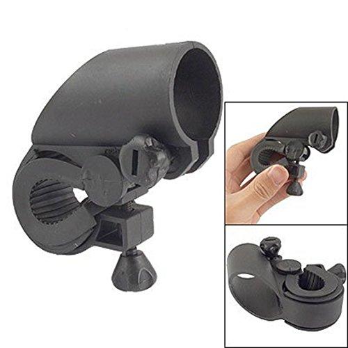 TOOGOO (R) Soporte de Linterna LED Plastico Negro para Bicicleta