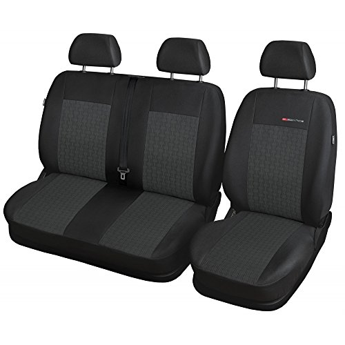 GSC Sitzbezüge Komplettset 2 + 1 Sitze nach Maß Autositzbezug Elegance, kompatibel mit Volkswagen T-5 Bus 03Bj
