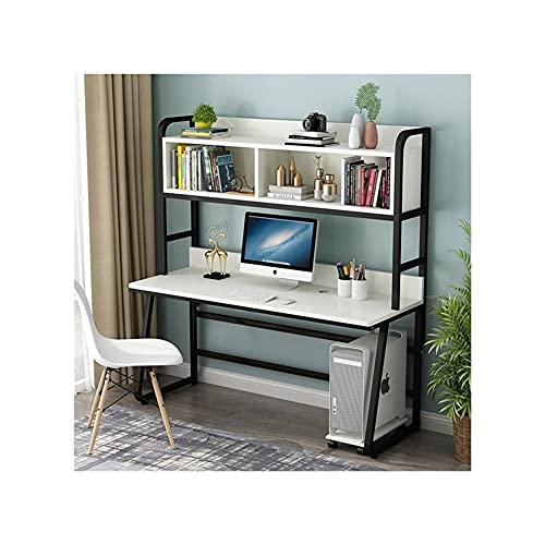 LICHUAN Escritorio de ordenador de 47 pulgadas con portón y estantería, moderno estudio de estudiante portátil escritorio de PC para muebles de oficina en el hogar (color: C)
