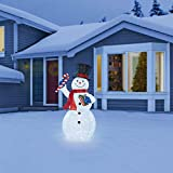 """SNOWMAN 84"""" LED Pop-Up Indoor Outdoor Easily Collapsible"""