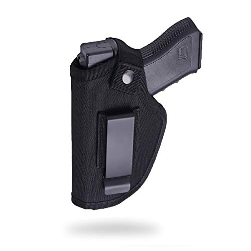 Fonrroni Concealed Carry Holster, Universal Holster, Inside The Waistband Bundle, Holster for Female/Male Fits S&W, M&P Shield/ Glock 23,36,39,42,43/Ruger LC 9, Similar Handguns, Black