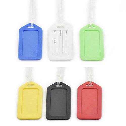 12sets vertical Loop & Soporte para etiqueta para equipaje rígido Juego Dirección seguro maleta ID etiqueta etiqueta viaje, color rosso