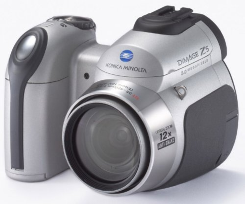 Konica Minolta Dimage Z5 Digitalkamera (5 Megapixel, 12fach Opt. Zoom) Silber
