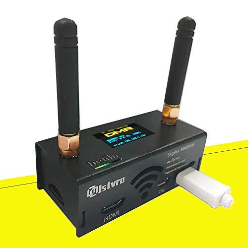 All-New Duplex MMDVM Hotspot Jstvro Assembled Radio Station WiFi Digital Voice Modem P25 DMR Hotspot Antenna Support YSF Raspberry Pi Zero Two Colors OLED Pie