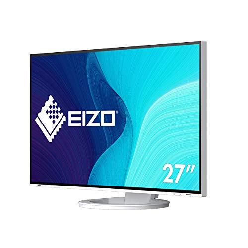 EIZO FlexScan EV2795-WT 68,5 cm (27 Zoll) Monitor (HDMI, USB 3.1 Hub, USB 3.1 Typ C, RJ-45 LAN, DisplayPort, 5 ms Reaktionszeit, Auflösung 2560 x 1440) weiß