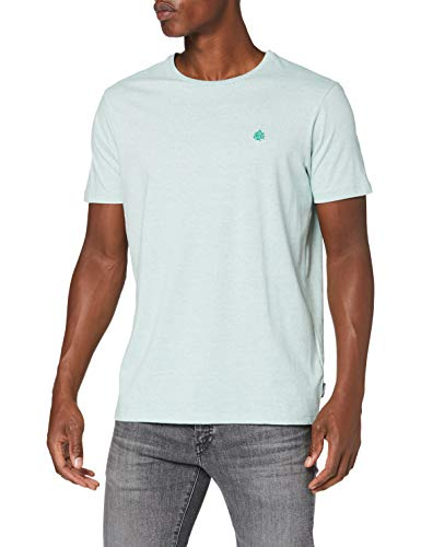 Springfield 5Ba Arbol Microstripe-c/22 Camiseta, Verde (Green 22), XS (Tamaño del Fabricante: XS) para Hombre