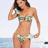 Sexy Bikinis Brasileños Traje De Baño para Mujer Traje De Baño Acolchado Conjunto De Bikini Halter Push Up Ropa De Playa Traje De Baño Natación Maillot SL Rosa
