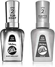 Sally Hansen Miracle Gel Shiny Top Coat and Matte Top Coat, Value Pack
