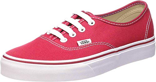 Vans VN000EE3RED Zapatillas de Tenis Unisex, Color Rojo/Blanco, 25.5