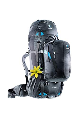 Deuter Quantum 60 + 10 SL Backpack (Black/Turquiose)