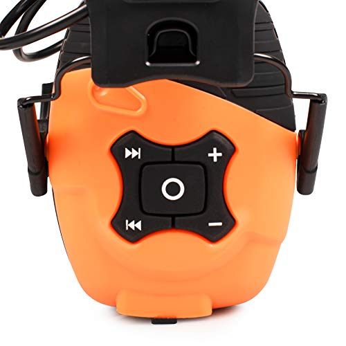 ISOtunes LINK Bluetooth Hearing Protection: OSHA Compliant Noise Isolation Earmuff Headphones, 14+ Hour Battery Life, Included Rechargeable Lithium Ion or AAA batteries, 23dB NRR, 85dB Safe Max Volume