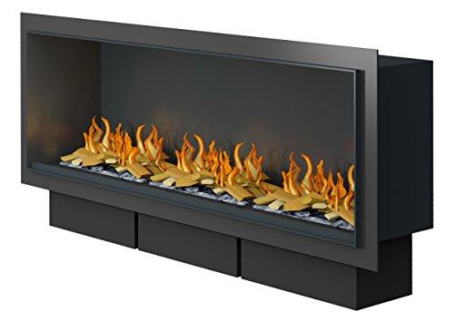 Muenkel design Wall Fire Electronic - Opti-myst elektrische open haard inzetstuk: 1350 mm - zonder verwarming