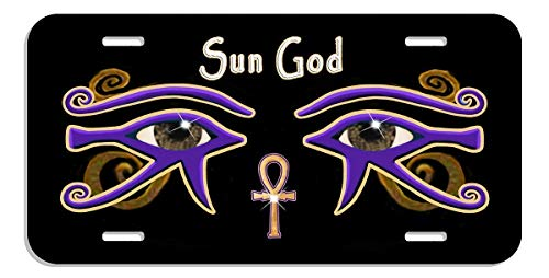 FINSchepai Custom Personalized License Plate The Eye of Horus Ra Egyptian Illuminati 6x 12 Car Tag Aluminum