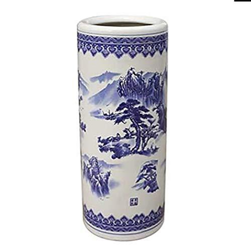Portaombrelli portaombrelli da Secchio Di Stoccaggio Cinese Dell'ombrello Del Vento, Portabottiglie Portafiori Rotondo Multiuso In Ceramica per Casa, 18 × 50 Cm / 7,1 × 19,7 Pollici ( Size : Style1 )