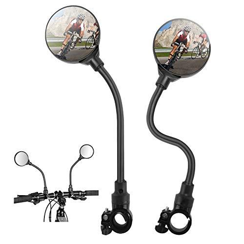 GUJIN [2 Stück] Fahrradspiegel, 360° Drehspiegel Spiegel Fahrrad verstellbar drehbar Radfahren Rückspiegel HD Weitwinkel Sicher Rückspiegel Stoßfest Universal für Mountainbike, Motorräder
