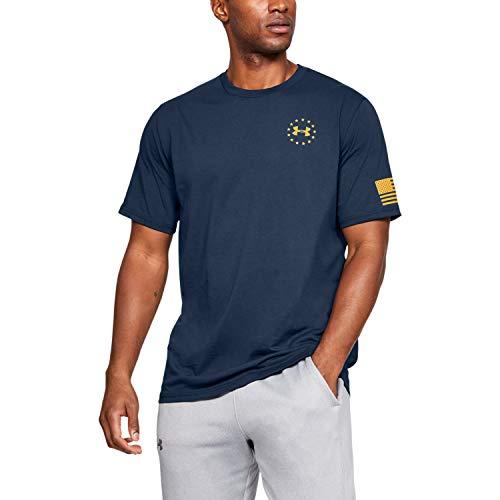 Under Armour Men's Freedom Flag T-Shirt , Academy Blue (410)/Steeltown Gold , XX-Large