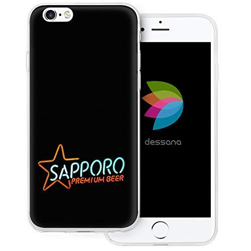 dessana Japan Sightseeing transparente Schutzhülle Handy Case Cover Tasche für Apple iPhone 6/6S Sapporo Bier