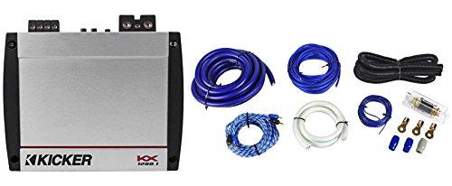 Kicker 40KX12001 KX1200.1 1200 Watt RMS Compact Mono Amplifier + Car Amp Kit
