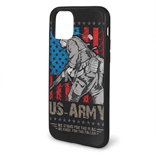 Teléfono de la UE 11/11 Pro/11 Pro max Compatible con Nosotros Ejército Militar Estamos de pie para la bandera estadounidense a prueba de golpes de la serie Pc+ TPU Bumper Funda protectora