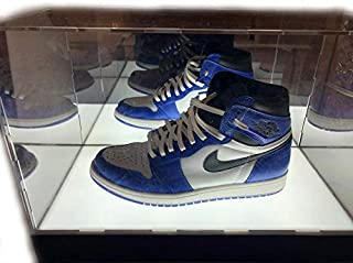 CPS 1 Shoe New LED Lights with Mirrored Background Acrylic Shoe & Any Products Display Case Box Stand (Shoe NOT Included) (Renewed)
