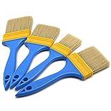 Set di 4 pennelli da pittura, per imbianchino e proprietari di casa, per porte, armadietti, pedane, recinzioni, 4 misure, da 2,5 cm, 5,1 cm, 7,6 cm, 10,2 cm