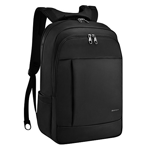 KOPACK Deluxe Black Water Resistant Laptop Backpack 17 Inch Travel Gear Bag Business Trip Computer Daypack KP512