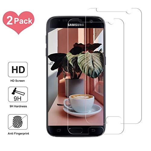 Sunoule [2-Pezzi Vetro Temperato Compatibile con Samsung Galaxy S8, Ultra Resistente Pellicola Protettiva per Samsung Galaxy S8, [Durezza 9H] [Anti Graffi] [Bordi Arrotondati da 2.5D]