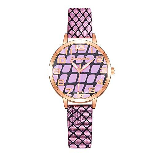 CXJC Reloj de dial Redondo de 36 mm Digital. Reloj de Cuarzo de la Correa de Sarga de la Moda Personalizada, dial Redondo de 36 mm. Versión Digital (Color : G)