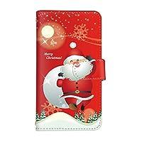 スマ通 LG Style L-03K 国内生産 カード スマホケース 手帳型 LG エルジー エルジー スタイル 【1-レッド】 サンタクロース q0004-i0360