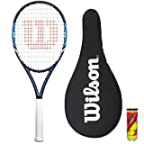 Wilson - Raquette de tennis Federer pour adulte + 3 balles - plusieurs couleurs au choix