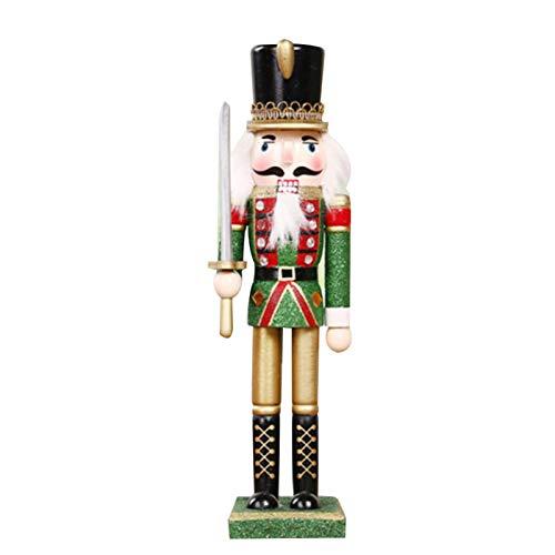 Weihnachten Nussknacker - 1 Stück 30cm Holz Nussknacker Soldat Figur Display für Weihnachtsschmuck Home Office Desktop Puppe Puppenspielzeug Geschenk