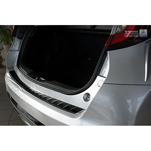 Avisa Protection de seuil arrière inox noir compatible avec Honda Civic IX 5-portes Facelift 2015- 'Ribs'