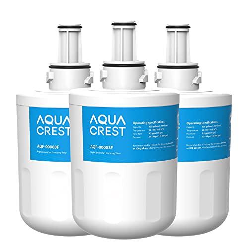 AQUA CREST DA29-00003F Filtro de Agua de Refrigerador, Compatible con Samsung Aqua Pure Plus DA29-00003F, HAFIN1, DA29-00003A, DA29-00003B, DA29-00003A-B, DA61-00159A, DA97-06317A (3)