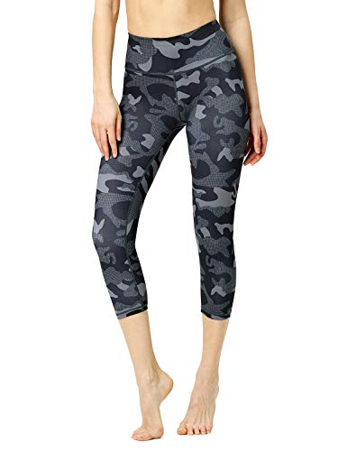 Luranee High Waisted Yoga Pants for Women, Summer Cute Workout Tummy Control Capri Leggings Teen Girls Pattern Sports Dance Running Gym Clothes Fashion Stretchy Casual Camo Exercising Leggings S