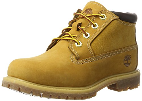 Timberland Nellie Chukka Leather Sde, Stivali Donna, Giallo Wheat Nubuck, 40 EU