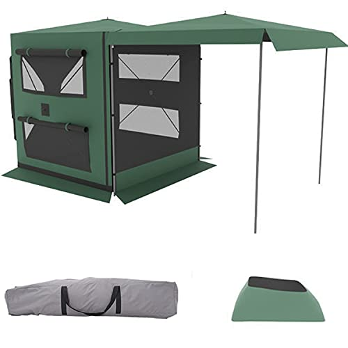 Tienda de campaña para exteriores para camping coche parte trasera tienda de campaña para el lado del coche combi y pequeño vehículo todoterreno 200 x 200 x 210 cm ofrece espacio para 3-4 personas