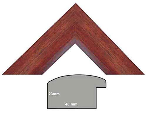 Bilderleiste nußbaum, Bilderleiste Holz braun, halbrundes Profil 40 mm breit