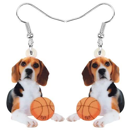 Ohrringe Ohrstecker Ohrhänger Acryl Beagles Hund Basketball Ohrringe Animal Drop Dangle Schmuck Für