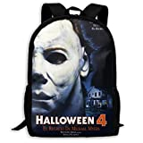Halloween Michael Myers Backpack, Lightweight Multi-Function College School Bookbag Travel Laptop Daypack
