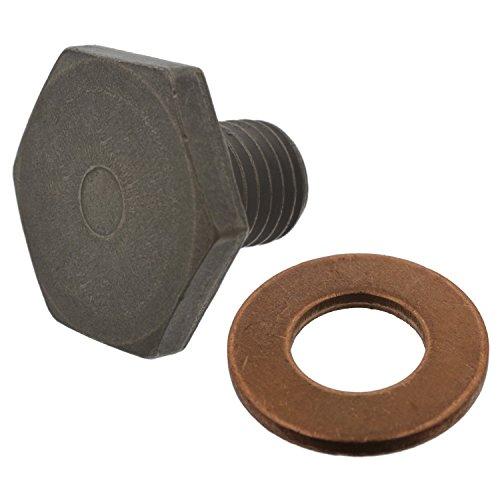 Febi Bilstein 38218 olieaftapschroef M10 x 1,25; 13 mm met afdichtring, 1 stuk