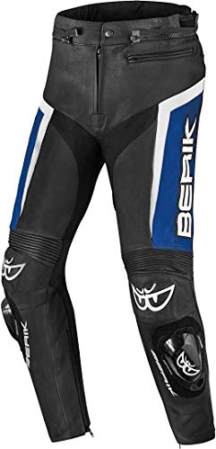 Berik Misle Motorrad Lederhose 56 Schwarz/Blau/Weiß