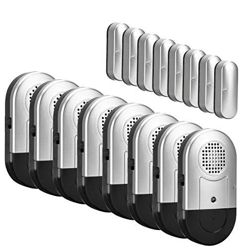 Door Window Alarm 8 PCS Home Security Magnetic Sensor 120DB Alert for...
