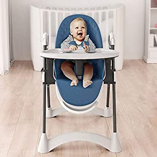 Baby High Chair, Dining Chair with Removable Tray, 5-Point Harness and Adjustable Height Legs, Easy to Assemble, for Boys ...