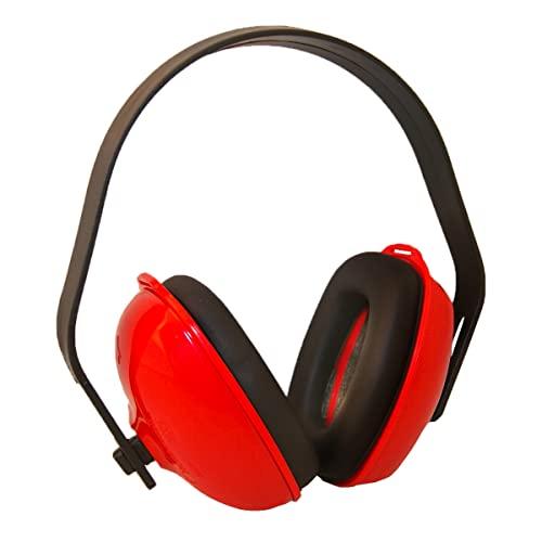 Protector auditivo - casco insonorización SNR26 dB - orejera antiruido de peso ultraligero - para trabajo, obra, agricultura, industria, estudiar, deportes - múltiples posiciones